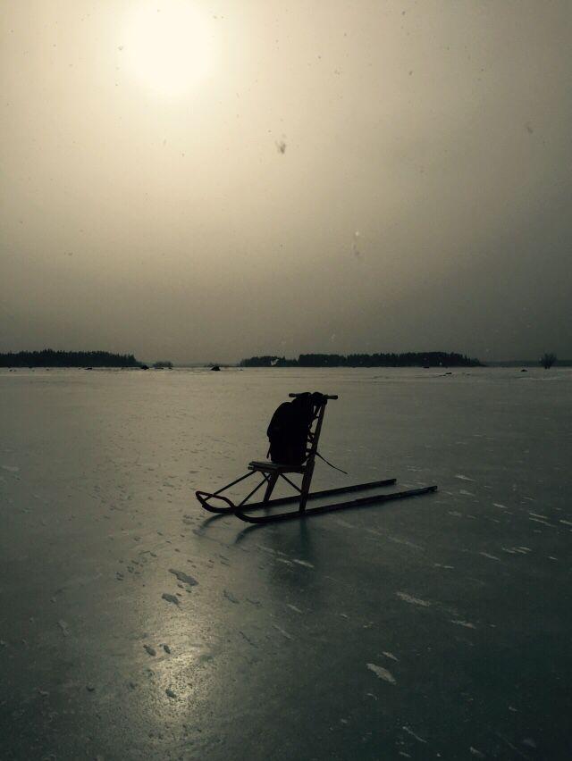 Winter, sea, ice