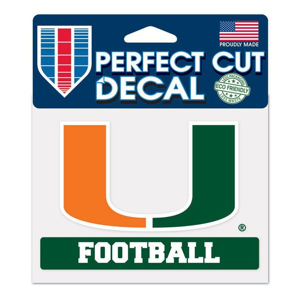 "Miami Hurricanes WinCraft 4"" x 5"" Perfect Cut Sport Slogan Decal - $4.99"