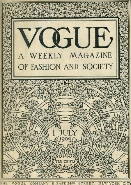 .: Fashion, July 1909, Art, Book, Vogue Magazine, Vintage Vogue, Vogue Covers