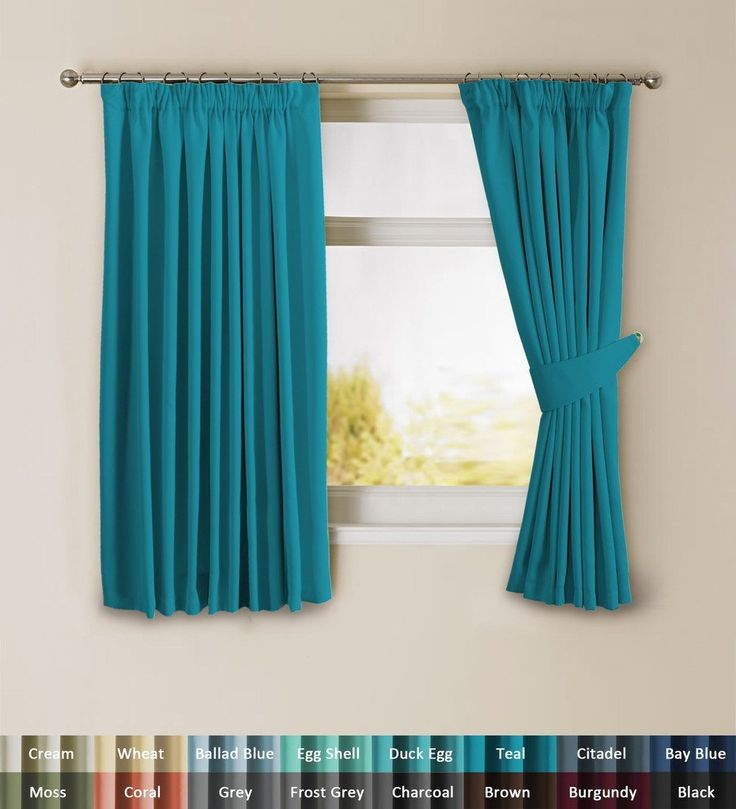 """H.Versailtex Solid Thermal Insulated Blackout Pencil Pleat Curtains for Bedroom with Two Matching Tiebacks - Teal, Warm Protecting & Noise Reducting, 46"""" Width x 54"""" Drop, Set of 2 pieces"""