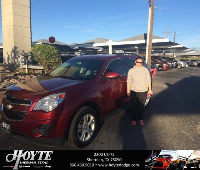 Congratulations Brandy on your #Chevrolet #Equinox from Jason Brown at Hoyte Dodge RAM Chrysler Jeep!  https://deliverymaxx.com/DealerReviews.aspx?DealerCode=R491  #HoyteDodgeRAMChryslerJeep