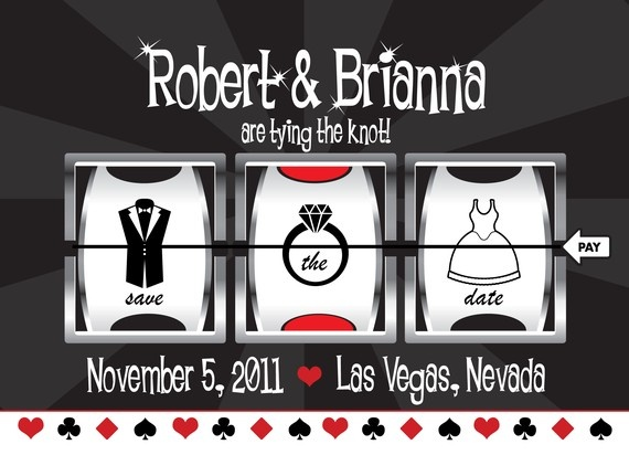 DIY Save the Date  Casino/Vegas Themed Template by BCanvasCreative, $45.00