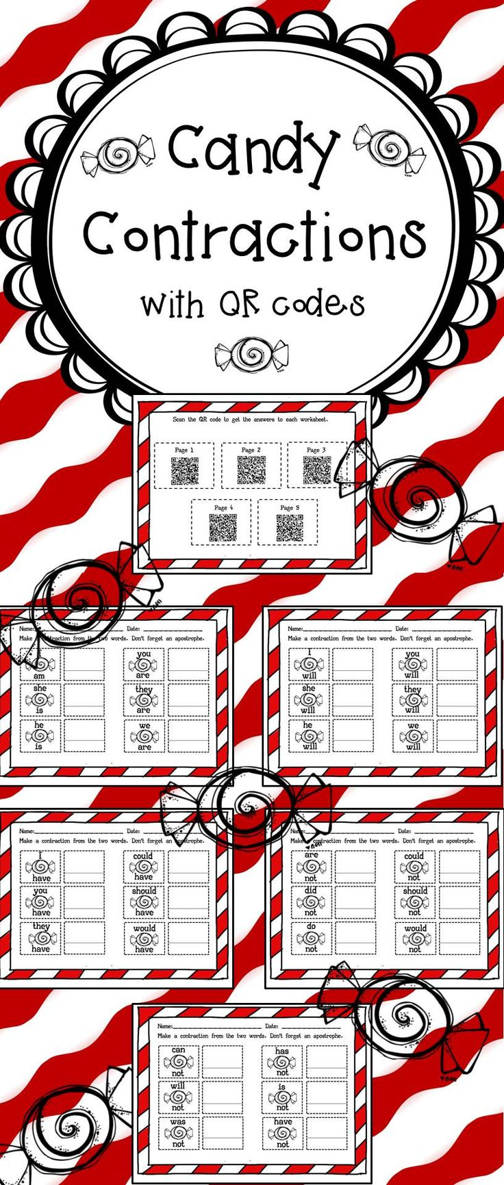 Best 25 Contraction Worksheet Ideas On Pinterest Cut