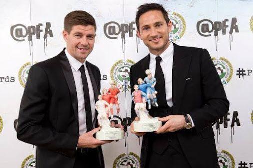 Gerrard and Lampard receiving their PFA Merit Awards... YNWA.