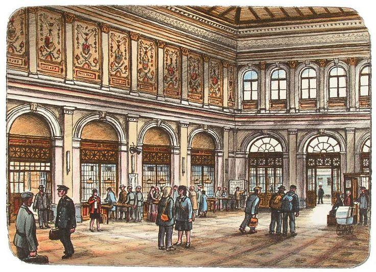 Jiří Bouda - Tesnov (railway station building) - the main hall