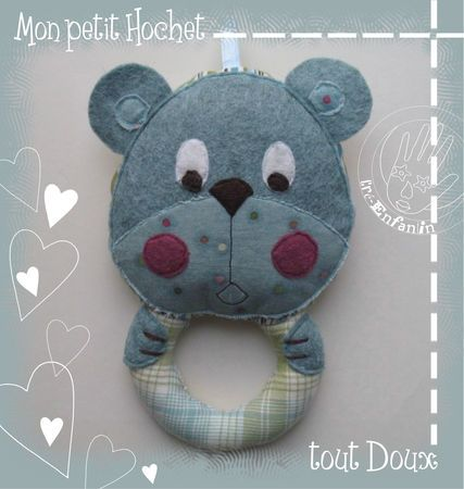 make this cute teddy bear baby rattle