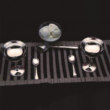 Silver Ice Cream Cups: Elegant silver plated ice cream cups make the perfect housewarming gift.