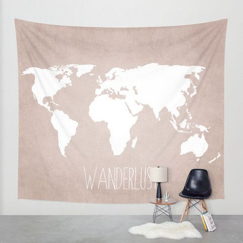 Wall Tapestry // Wanderlust World Map