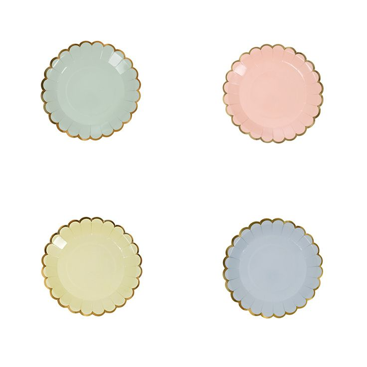 Pastel canape plates pastel dots and polka dots for Canape suppliers