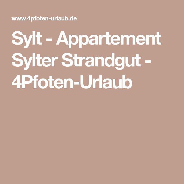 Sylt - Appartement Sylter Strandgut - 4Pfoten-Urlaub
