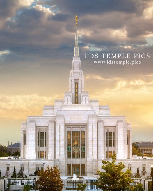 Ogden Utah Temple Sunset West - LDS Temple Pictures