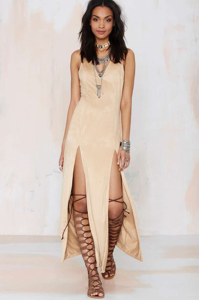 Nasty Gal Love Me Two Times Maxi Dress - Midi + Maxi | Day | Going Out | Dresses | Ménage au Mirage | Extra TV- Gladiators