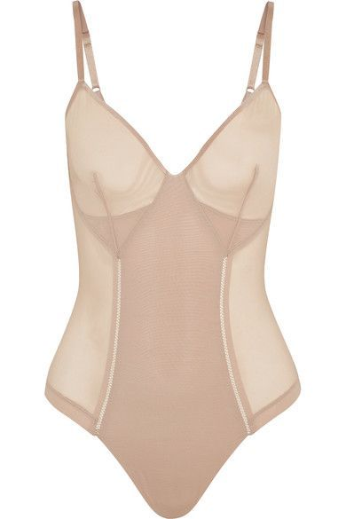 Spanx - Haute Contour Nouveau Stretch-mesh Bodysuit - Neutral -