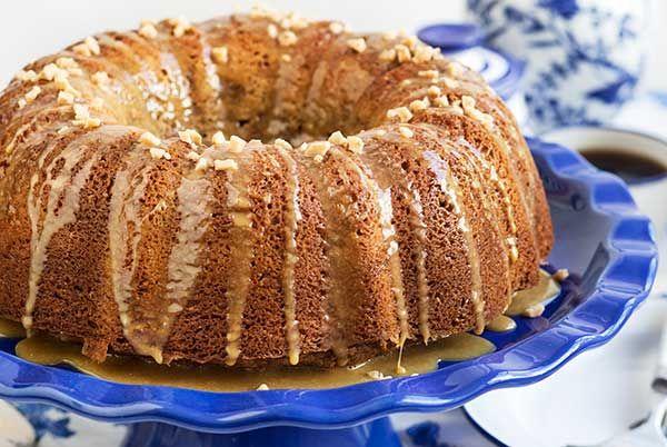 Gluten Free Caramel Toffee Bundt Cake Recipe - brown sugar pound cake with some flavor upgrades. :)