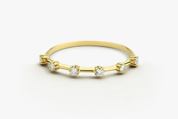 Diamond Wedding Ring In 14k Gold Diamond Engagement Ring Etsy In 2020 Gold Diamond Engagement Rings Diamond Wedding Rings Wedding Ring Bands