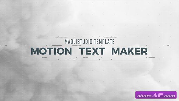 Videohive Motion Text Maker