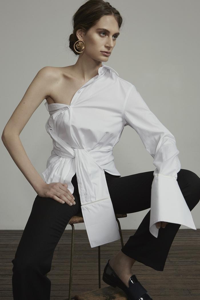 ANNA QUAN - the Anne Shirt (white trim)