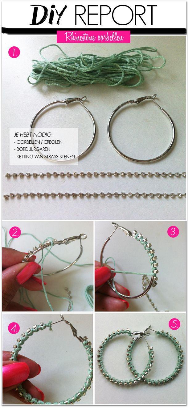 www.bykaro.nl | DIY earrings | oorbellen | sieraden maken