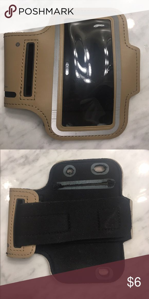Active armband for iPhone 5 Gold armband for iPhone 5. Good condition and even has a spot to hold a key. Accessories Phone Cases