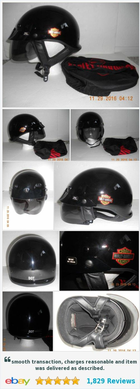 Womens Harley Davidson Motorcycle Helmet Black SMALL 55-56cm KBC w/ Bag EUC  | eBay http://www.ebay.com/itm/152337351585?ssPageName=STRK:MESELX:IT&_trksid=p3984.m1558.l2649