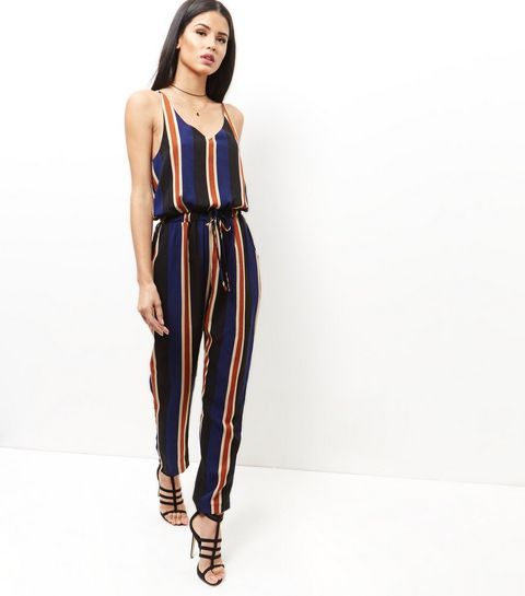 Mela Blue Stripe Jumpsuit