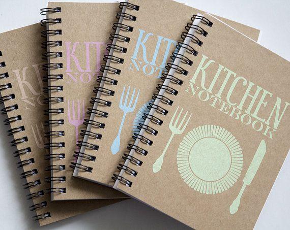 Kraft paper notebook set of 4 recipe book kitchen by PaperNotebook, zł68.00
