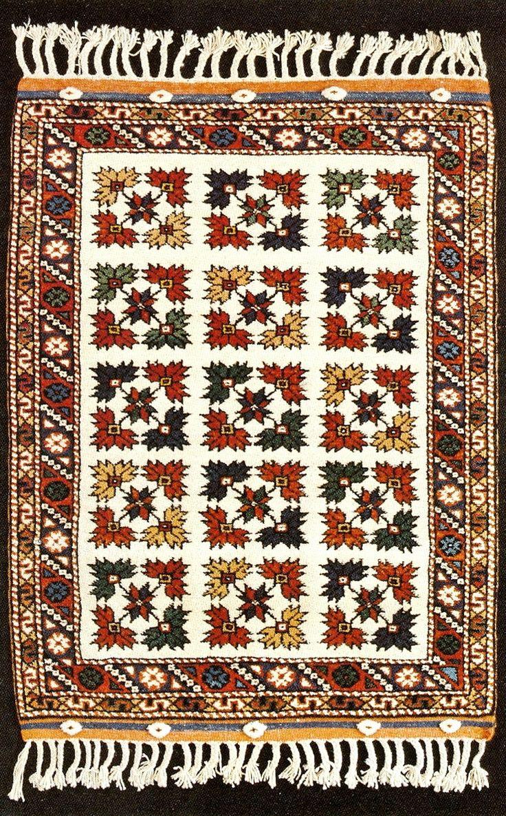 Of The Çanle Province Carpet Woven In 1985 Village Karagömlek About 15 Km Se Ezine Motif Central Field Is Called çınar