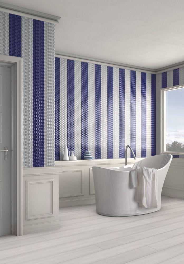 Bagno blu mosaico+ - Di Giacomo Pavimenti
