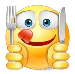 This adorable smiley is the perfect message to tell everyone your off to the kitchen with your two besties—your knife and fork!
