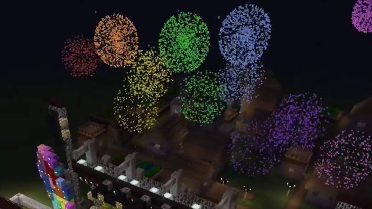 Coldplay stage in Minecraft: Fireworks and A Head Full of Dreams 2016
