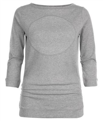 Wellicious OC Moon Long-sleeve - $89.95 - It's the detail and the moon motif that make the OC Moon long-sleeve top such a flattering piece. Made from 100% cotton, this top will add some serious style this season. What we love is the rouched sides for some extra detail and mid length sleeves for transeasonal wear. #fireandshine #yoga #fashion #ethical #activewear #loungewear #wellicious #newarrival #justarrived