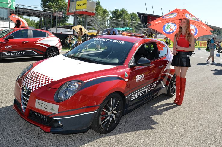 alfa romeo mito in the starting grid of imola circuit. Black Bedroom Furniture Sets. Home Design Ideas