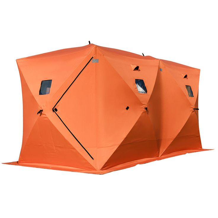 This new brand ice fishing tent is made out of tough 300D oxford fabric that keeps the cold out allowing you to fish comfortably.