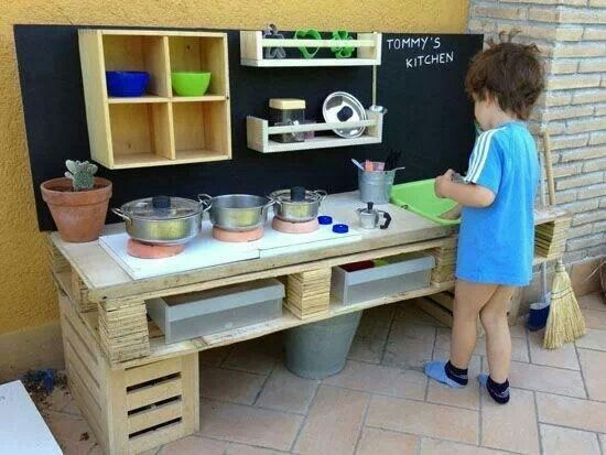 17 best images about kids backyard on pinterest messy for Childrens kitchenette