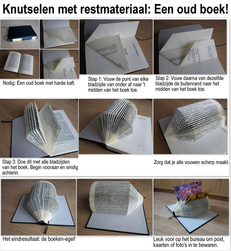 Een oud boek over? Maak er een boekegel van!