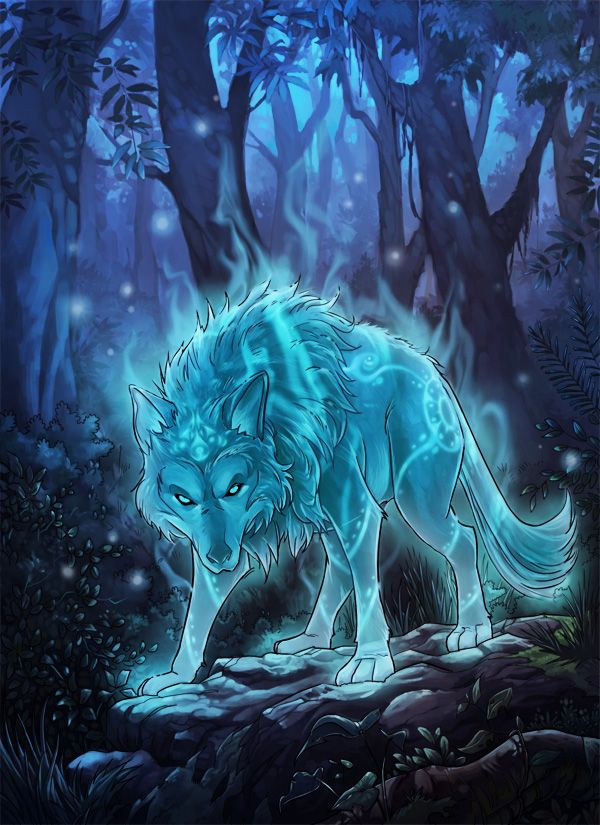 Mist Wolf. Symbolic for the spirit. The mist wolf represents spirits of those who are lost.                                                                                                                                                      Más