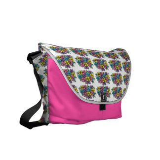 Colourful Flowers Courier Bags