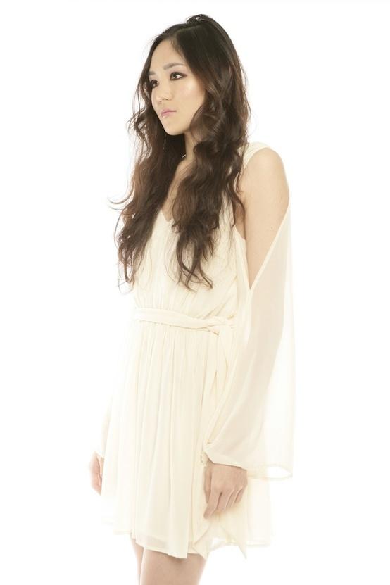 long open sleeve dress