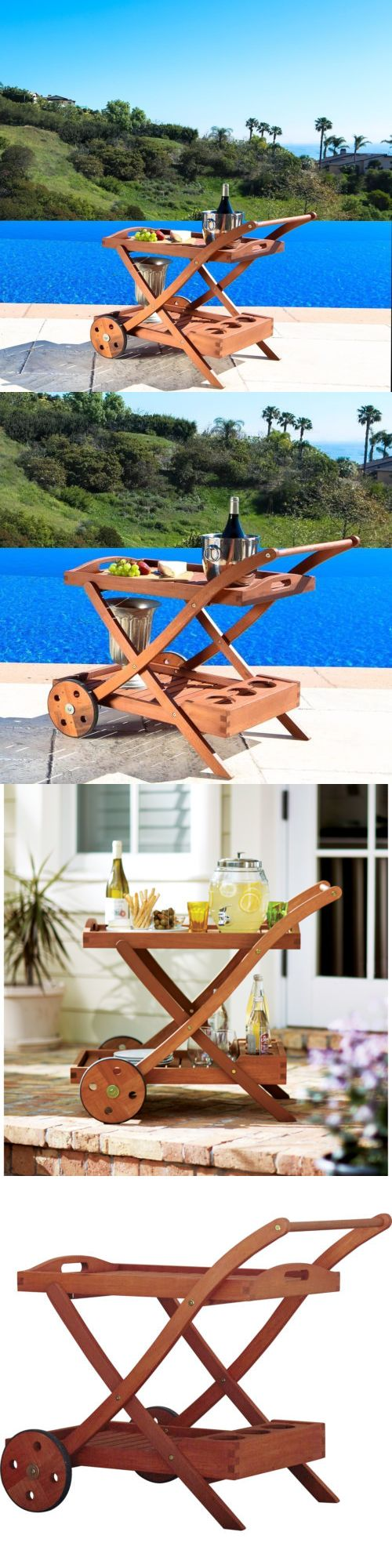 Outdoor buffet table serving cart as well century modern console table - Bar Carts And Serving Carts 183320 Serving Cart Patio Furniture Kitchen Rolling Vintage Wood Outdoor