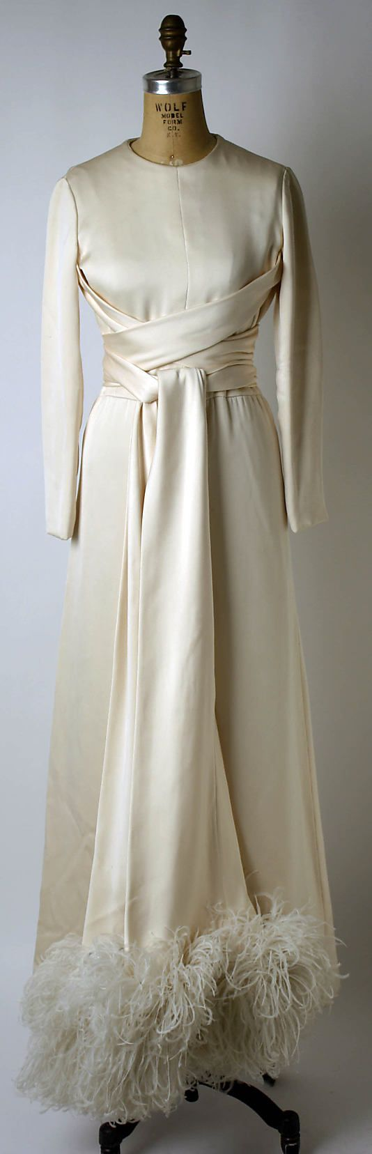 Valentino Dress - late 1960's - by Valentino (Italian, born 1932) - Silk, feathers - Credit line: Bequest of Barbara C. Paley, 1978