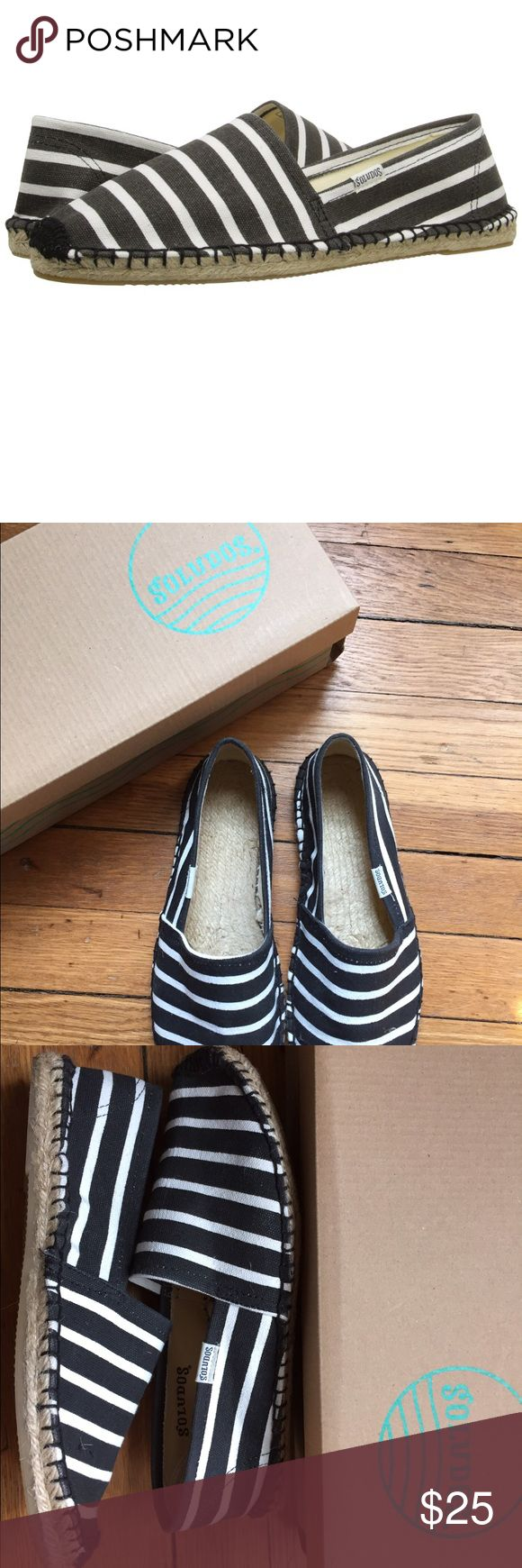Soludos black and white stripes espadrilles Only worn once black and white stripes espadrilles - perfect for spring and summer! Soludos Shoes Espadrilles