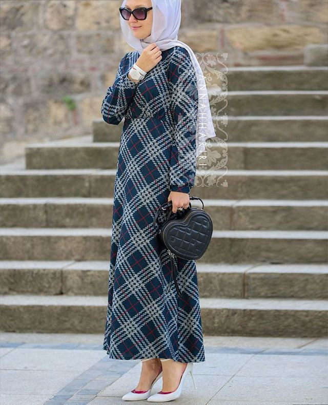 More ways to wear new mixed checkered print dress.