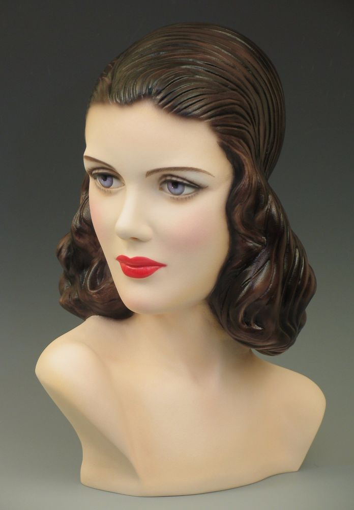 40s Vintage Style Mannequin Head Bust Display By
