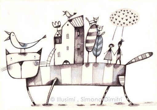 drawings by simona dimitri at Coroflot.com