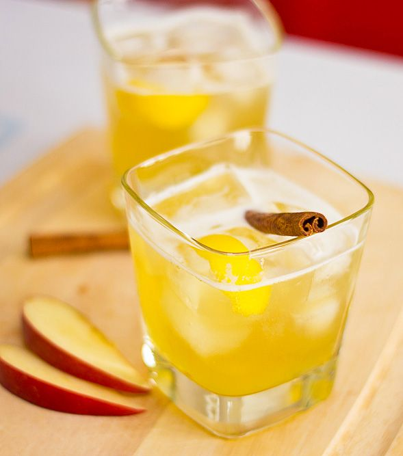 Apple Bourbon Cocktail with Ginger Syrup // wishfulchef.com