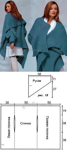 Knitted cape pattern