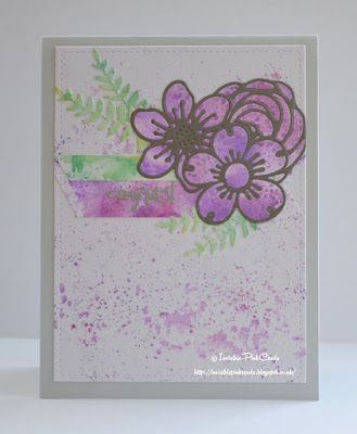 InvisiblePinkCards: Handmade birthday card using STAMPlorations stamps and dies with Tim Holtz Distress Oxides