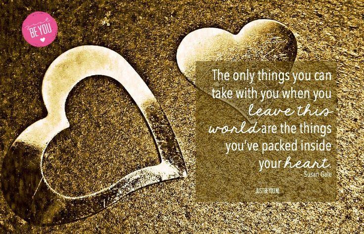 Geld, spullen, grote huizen en mooie kleren, niets daarvan zul je kunnen behouden. Alleen wat je verzameld hebt in je hart heeft eeuwigheidswaarde.