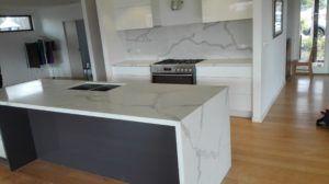 Calacatta Quartz Stone Kitchen Benchtop