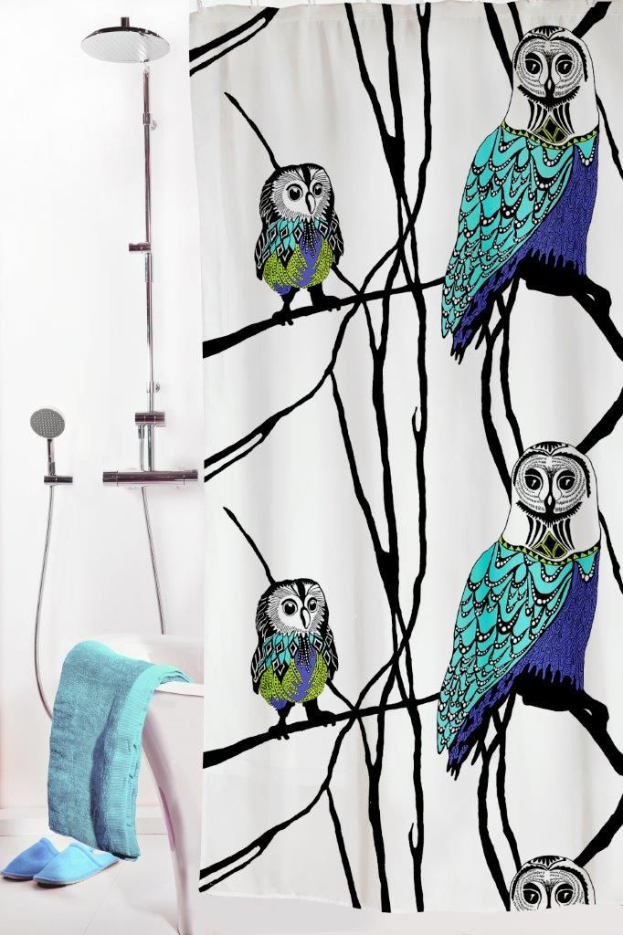 Vallila Interior AW14, Hu-huu shower curtain blue/white by Riina Kuikka